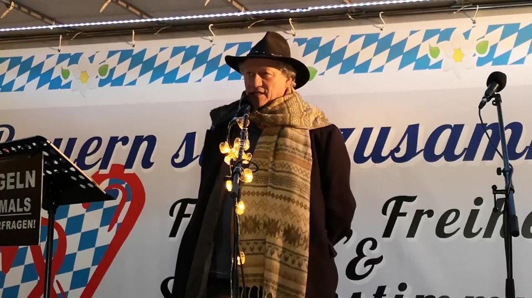 Karl Hilz Verfolgung von Ärzten Demo Poing 25.02.21