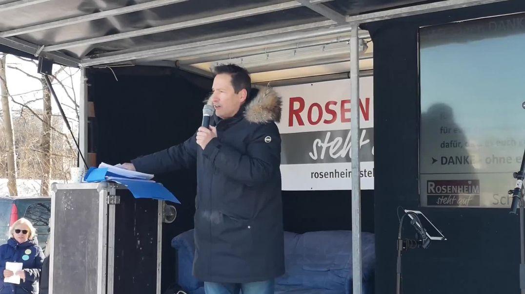 Thorsten Schulte Demo Querdenken Rosenheim 13.02.21 (ganze Rede)