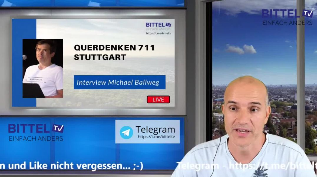 LIVE - Interview mit Michael Ballweg - Querdenken 711 Stuttgart