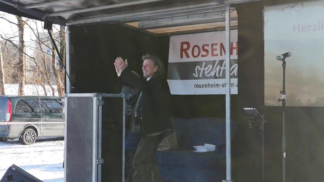 Florian vom Friedensboot Demo Rosenheim 13.02.21