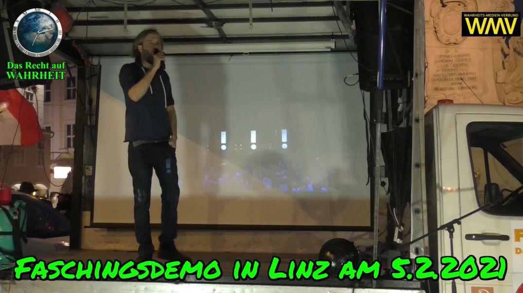 FASCHINGSDEMO LINZ am 5.2.2021: Rede von Steve Whybrow