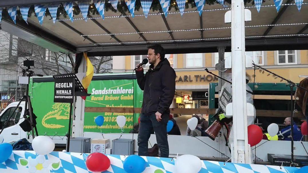 Leibwächter von Markus Haintz festgenommen Demo München Marienplatz 28.02.21