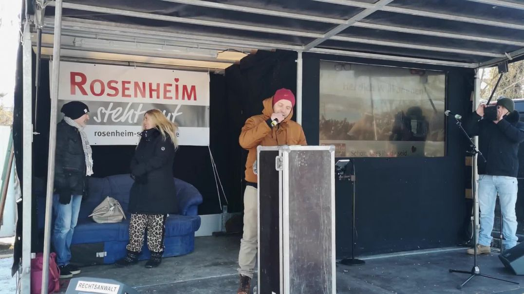 Rede Nino Kornhass Kampfsport-Schule - Demo Querdenken Rosenheim 13.02.21