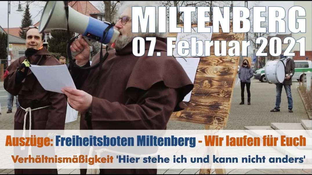 VOR ORT - Auszüge: 07.02.2021 Miltenberg - Wir laufen jeden Sonntag für Euch - Das Weimarer Urteil