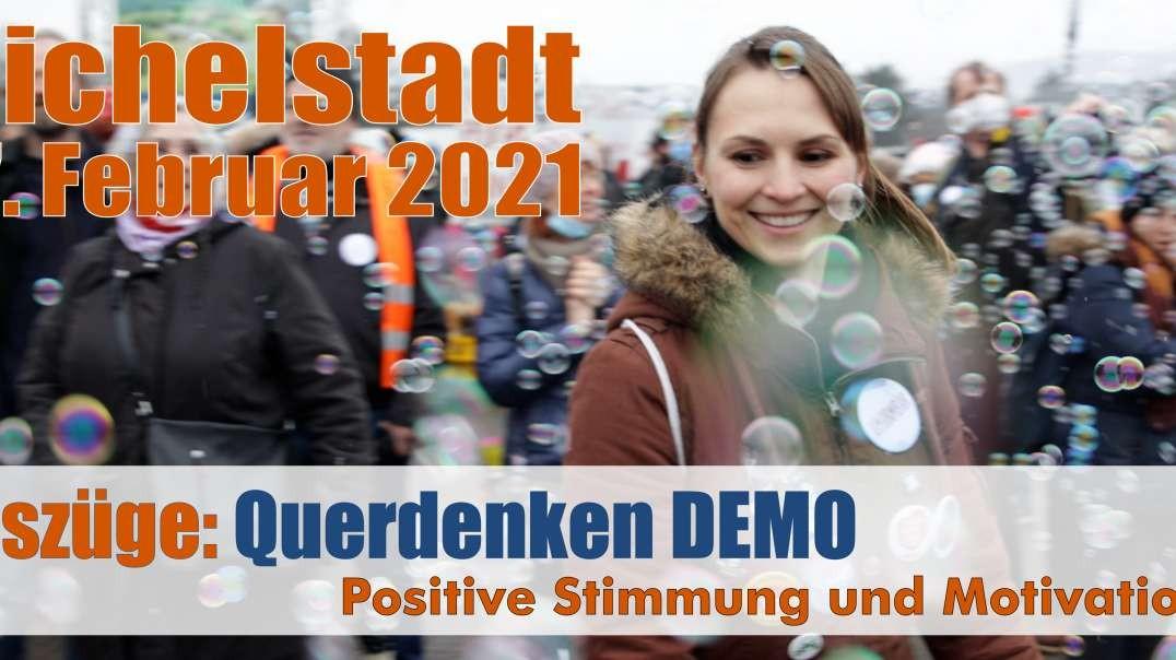 VOR ORT - Auszüge: 07.02.2021 Michelstadt Querdenken Motivation und positive Stimmung