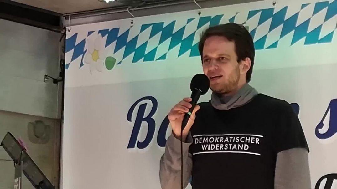 Diese Markus Haintz Rede auf Youtube gelöscht Demo München 21.02.21