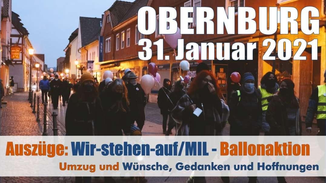 VOR ORT - Auszüge: 31.01.2021 Obernburg: Wir-stehen-auf/MIL: Wünsche, Gedanken und Hoffnungen