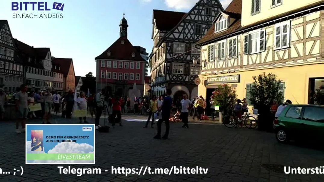 Live für Grundgesetz und  Grundrechte aus der Daimlerstadt im Remstal Schorndorf