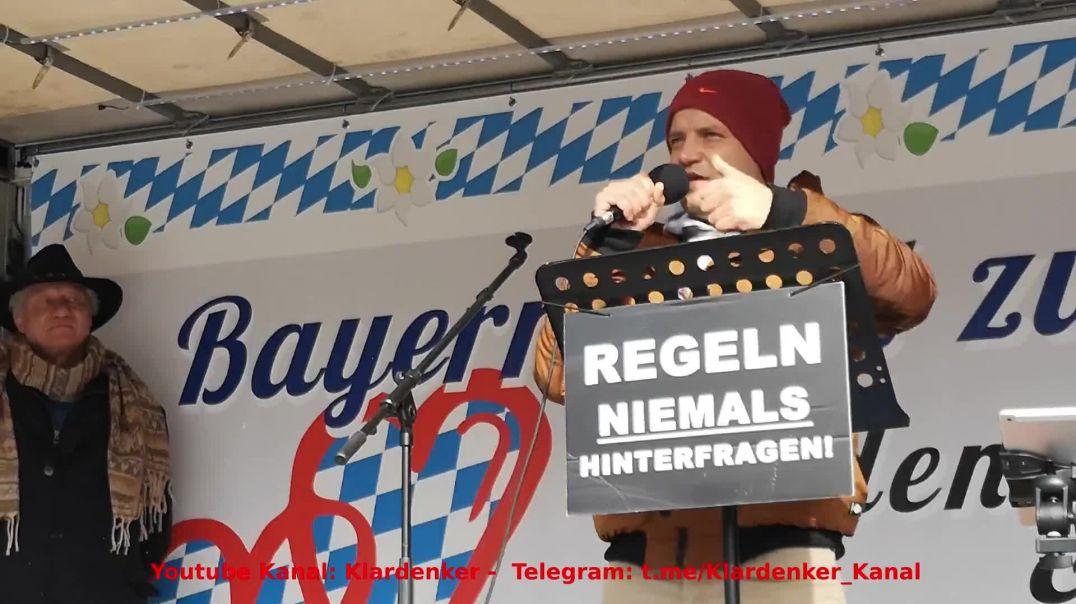 Rede Nino Kornhass Kampfsportler Demo Oberaudorf 14.03.21