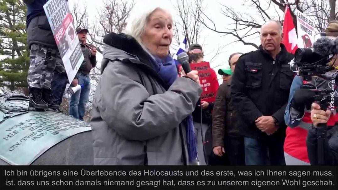92-jährige Holocaust-Überlebende hält bewegende Rede