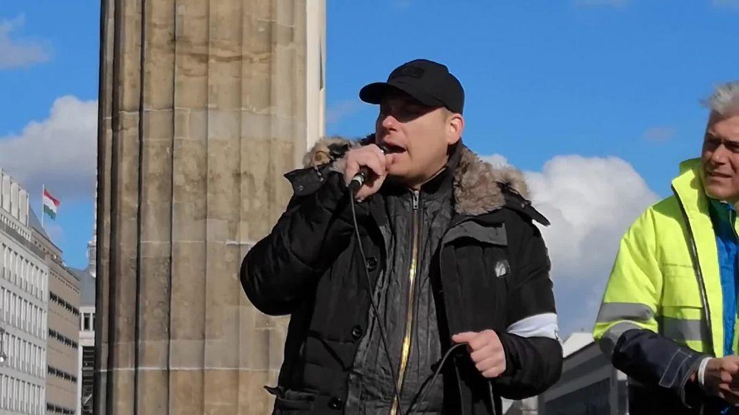 Rede von Autokorso Veranstalter Berlin Brandenburger Tor 05.04.21