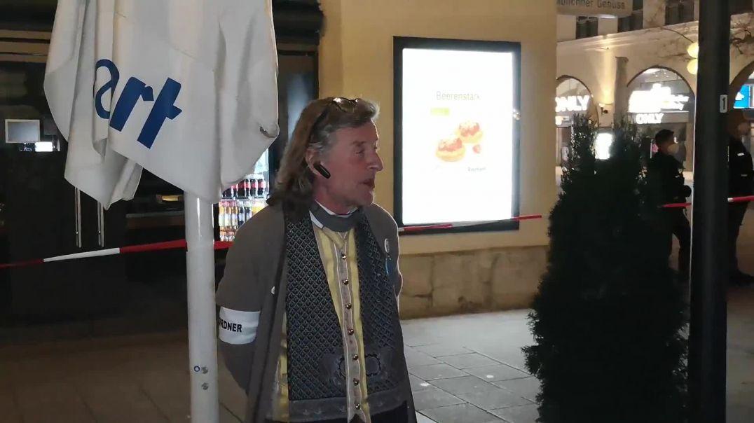 Spontandemo nach Verhaftung von Karl Hilz München Ettstraße 11.04.21
