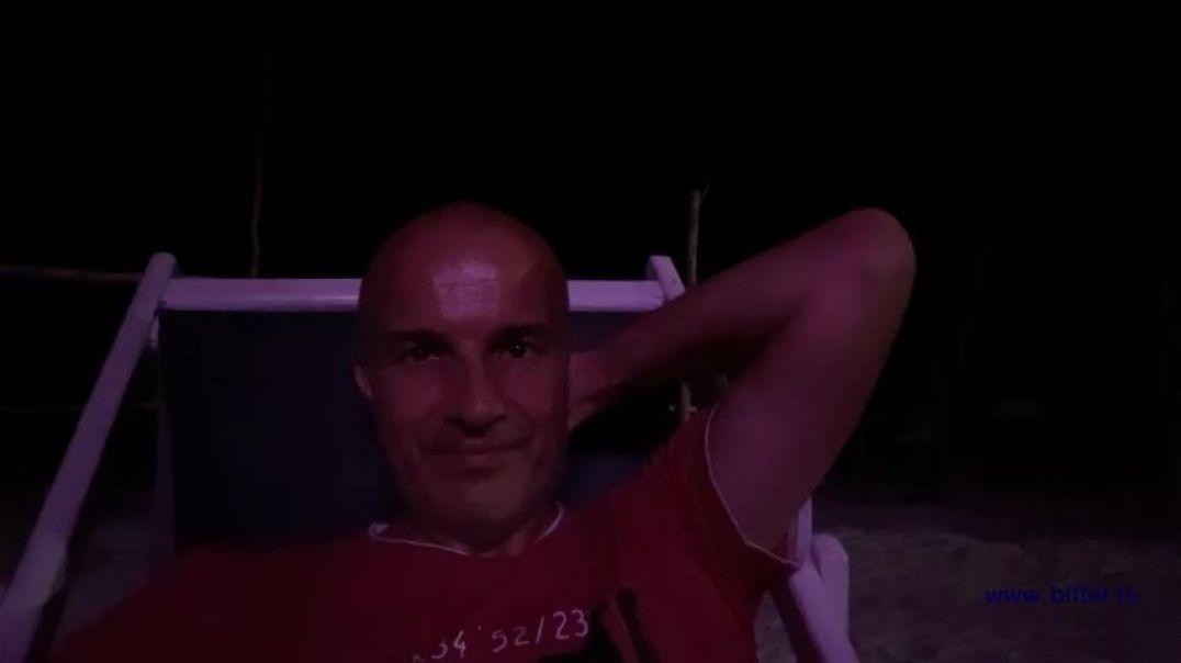 Nachteulen am Strand