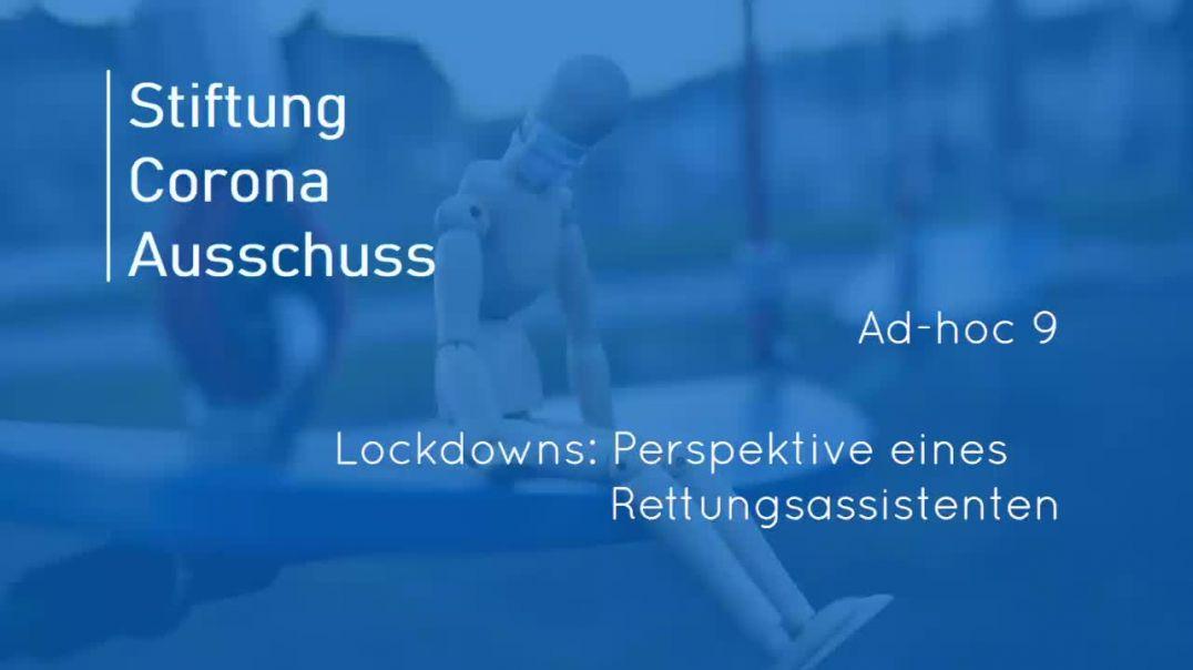Lockdowns: Perspektive eines Rettungsassistenten (Whistleblower-Bericht)
