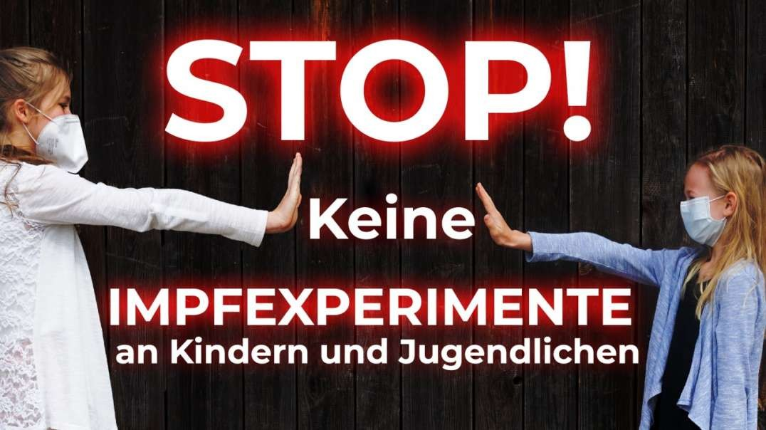 Stop! Keine Impfexperimente an Kindern und Jugendlichen