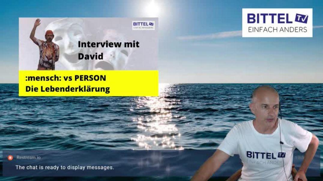 LIVE - Interview mit David - Mensch vs Person