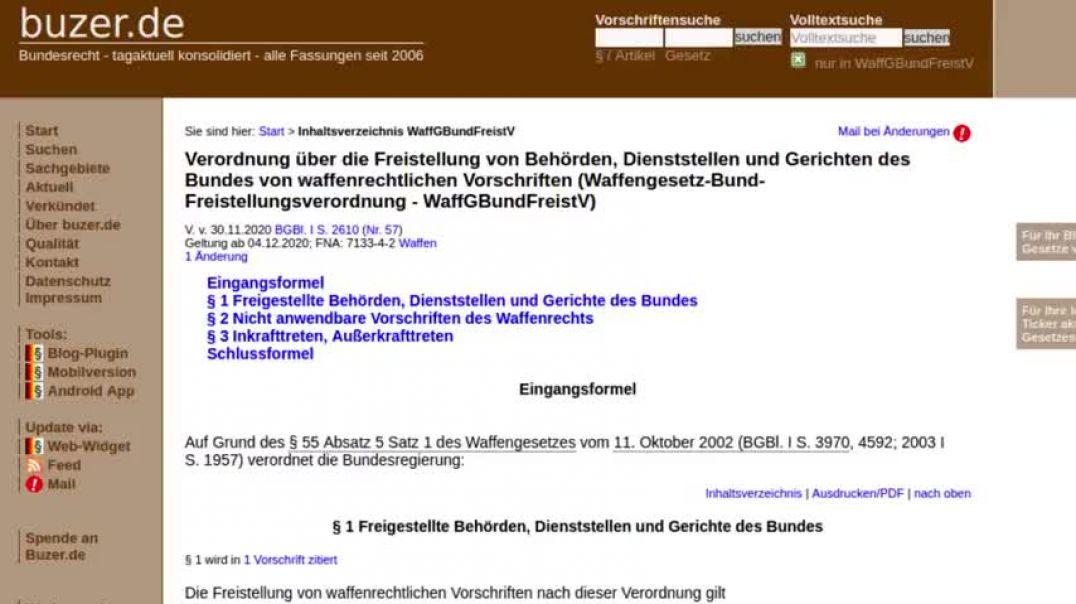 Merkel: Feuer frei auf die Bürger! Waffengesetze für Bundesbehörden heimlich abgeschafft