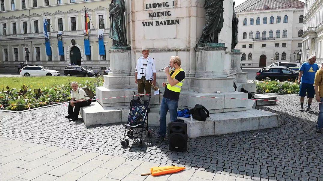 Bündnis Volksbegehren bay. Landtag abberufen - Rede von Melchior bei Übergabe 24.06.21