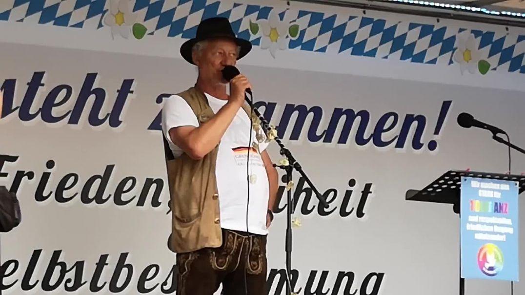 Bündnis Volksbegehren bay. Landtag abberufen. Reden von Karl Hilz Odeonsplatz 24.06.21