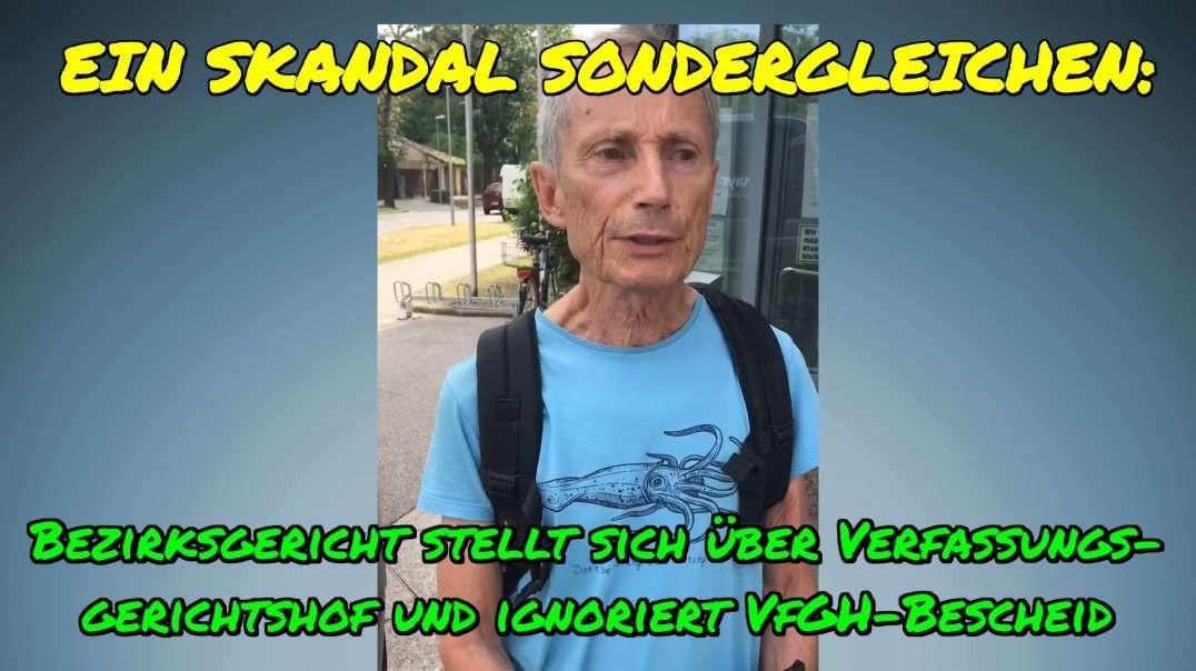SKANDAL: Bezirksgericht stellt sich über den Verfassungsgerichtshof und ignoriert VfGH-Bescheid