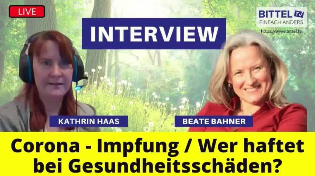 LIVE - Interview mit Beate Bahner und Kathrin Haas - Wer haftet bei Gesundheitsschäden?