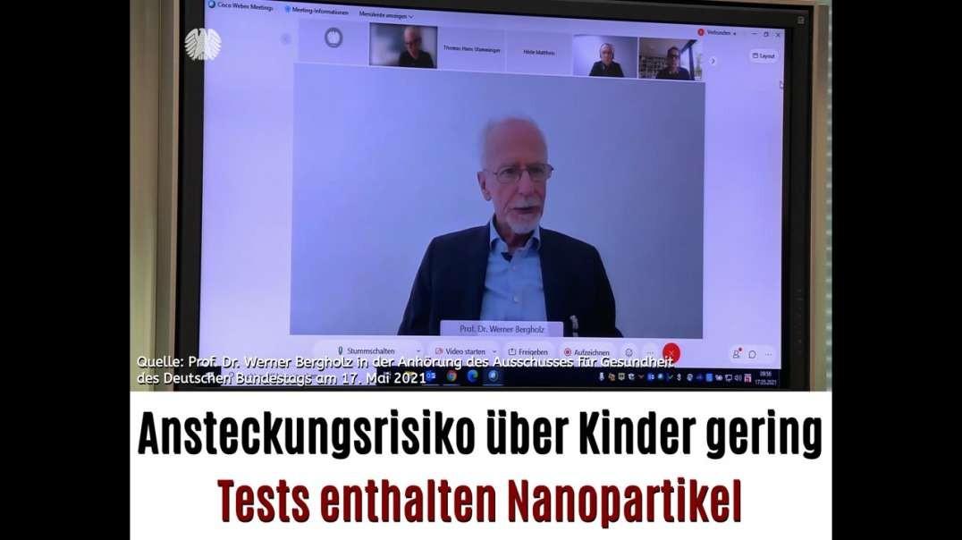 Prof. Dr. Werner Bergholz im Gesundheitsausschuss des deutschen Bundestages