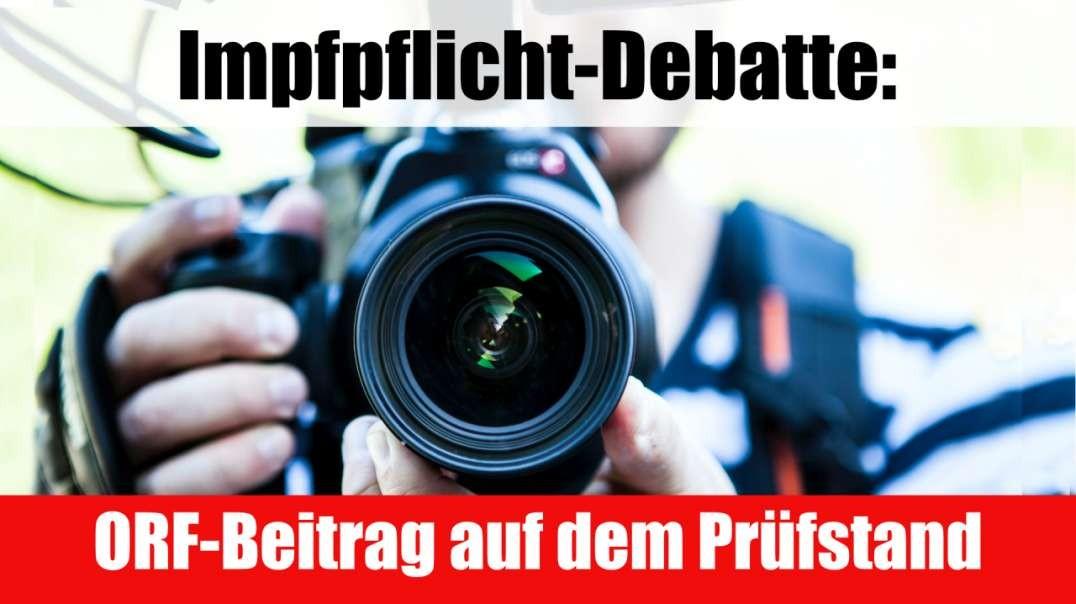Impfpflicht-Debatte: ORF-Beitrag auf dem Prüfstand
