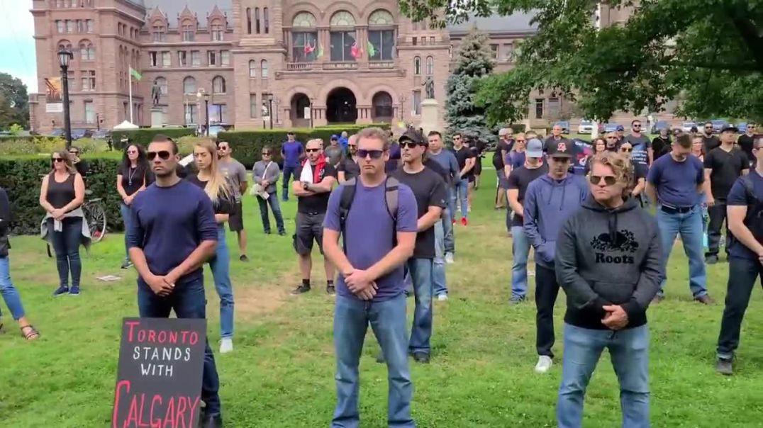 Solidaritätsdemonstration in Toronto, Kanada