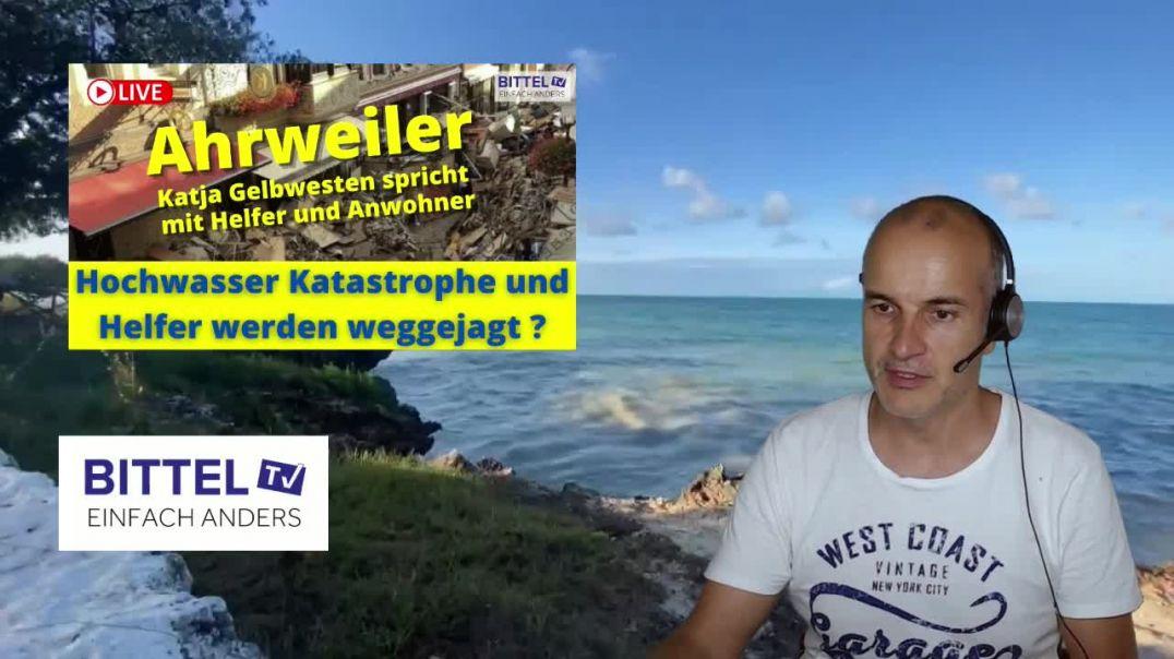 LIVE - Ahrweiler - Katja Gelbwesten spricht mit Helfer und Anwohner