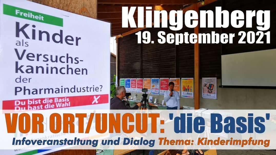 VOR ORT/Uncut: Infoveranstaltung der Partei 'die Basis' Kinderimpfung & Dialog