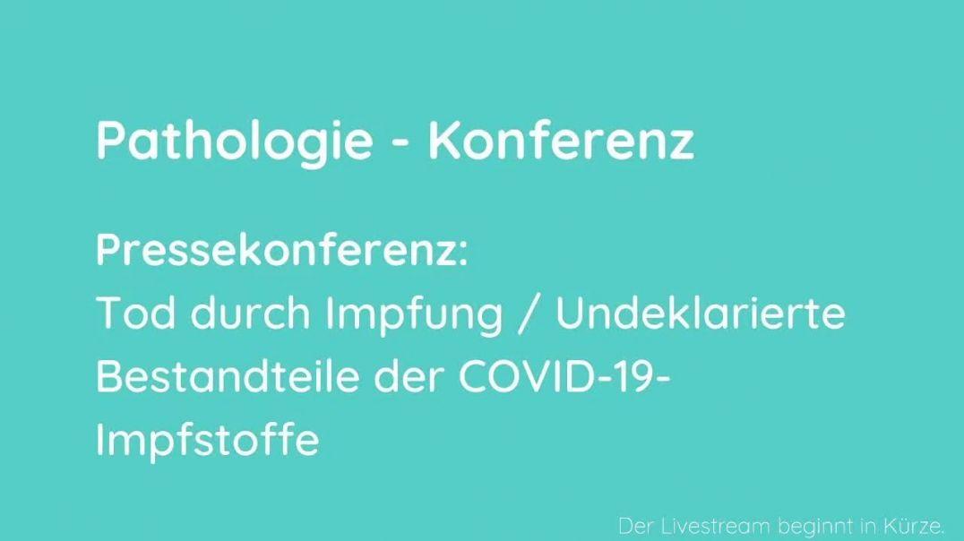 Pressekonferenz Tod durch ImpfungUndeklarierte Bestandteile der COVID-19-Impfstoffe