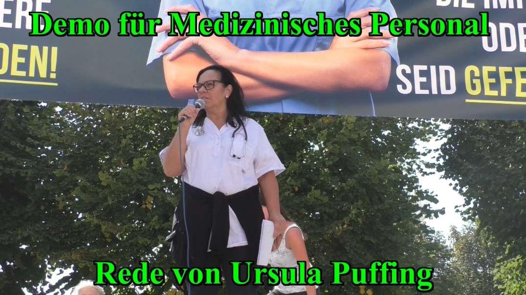 11.9.2021: DEMO FÜR MEDIZINISCHES PERSONAL - Rede von Ursula Puffinger