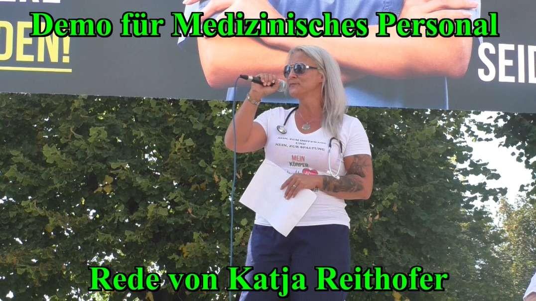 11.9.2021: DEMO FÜR MEDIZINISCHES PERSONAL - Rede von Katja Reithofer